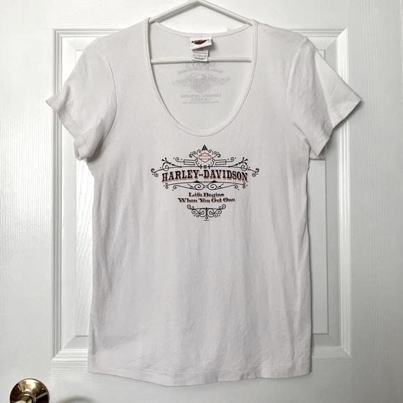 Lg HD Tee Harley Davidson Short Sleeve Tshirt